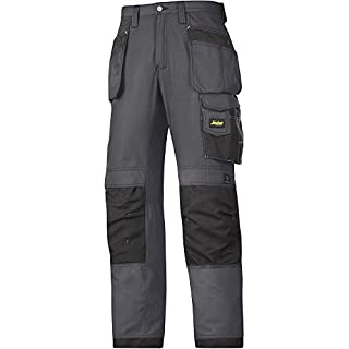 Snickers 32135804050 Craftsmen Holster Pocket Trousers Rip-Stop Size 50 in Grey-Black
