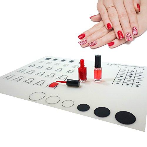 Primaneo - Nageldesign Stempel Matte aus Silikon, waschbar Nail Art Stamp Plate - DIY Nail Art Silikonmatte - Nailstamping Mat (Marble Art Nail Water)
