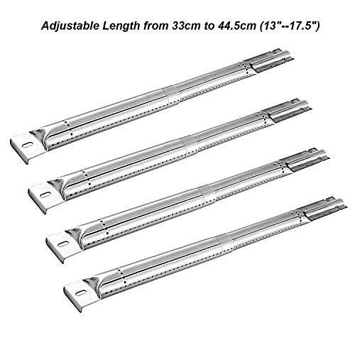 Wondjiont Gasgrill Brenner Verstellbarer für die Meisten Modell Gas Grills, 35,56 cm bis 48,26 cm (13