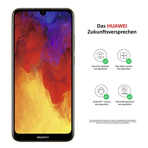 HUAWEI Y6 2019 Dual-SIM Smartphone 15,46 cm (6,09 Zoll) (3020mAh Akku, 32 GB interner Speicher, 2GB RAM, Android 9.0) amber brown (Amazon Video Android Für Instant)