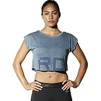 Reebok Combat Spraydye Crop tee Camiseta, Mujer, Gris (stonew), XS