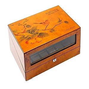 Audivik Uhrenbeweger 4 Uhren Batterie,Holz 4+6 Watch Winder Box Motor Automatic Uhrenbox Uhrenboxen Uhrenaufbewahrung Uhrenkasten Uhrenvitrine Uhrenschatulle Brown