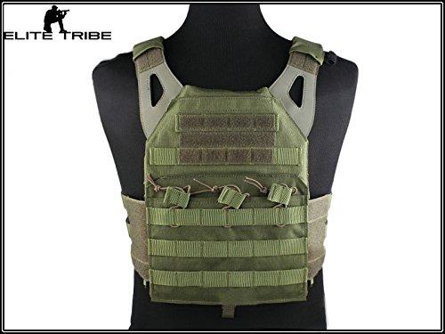 Militär Taktisch Ausrüstung Airsoft Paintball SWAT Kampf MOLLE JPC Weste Brustschützer - Olive Paintball Weste