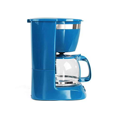 Kaffeemaschine Blau mit Glaskanne für 12 Tassen Warmhaltefunktion (Kaffeeautomat, Kaffeelöffel, Automatische Abschaltung, Wasserstandsanzeige)