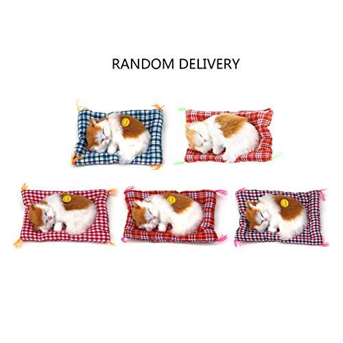 Mini schöne Nette kleine Simulation Tier Handwerk Puppe plüsch Faule schlafende Katzen mit Sound Kinder Spielzeug Geburtstagsgeschenk Puppe stofftier JBP-X (Handwerk Net)