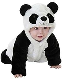 Bonjouree Barboteuses Bébé Garçon Manteau Capuche Bebe de Panda Mignon  Costume ... b8b6bd3aad0