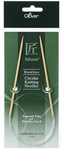 Clover 3958 Rundstricknadel Bambus Takumi 100 cm, 3,75 mm