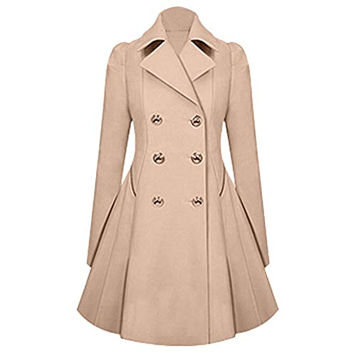 Winter Bequem Mantel Lässig Mode Jacke Frauen Winter warme Damen Revers stilvolle Lange Parka Mantel Trench Outwear Jacke ()