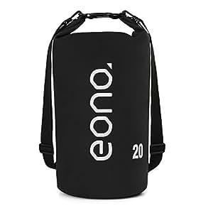 Eono Essentials Dry Bag Waterproof Material 20L with Adjustable Shoulder Strap — Black