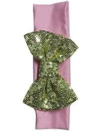 Baby-Haarband - SODIAL(R)Elastische Kinderstirnband niedlich Pailletten-Bogen-Baby-Haar-Zusaetze (Rosa + Licht Gold)