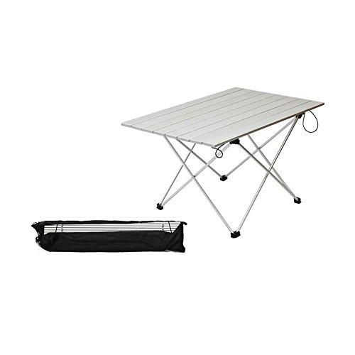 Tavolo Arrotolabile Da Campeggio.Asdomo Aluminum Tavolo Pieghevole Portatile Di Campeggio Tavolo Da