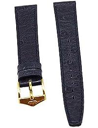 Reloj De Pulsera Fortis piel azul tono en oro de 14mm Cierre nuevo 8497