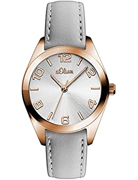 s.Oliver Damen-Armbanduhr Analog Quarz Leder SO-3144-LQ