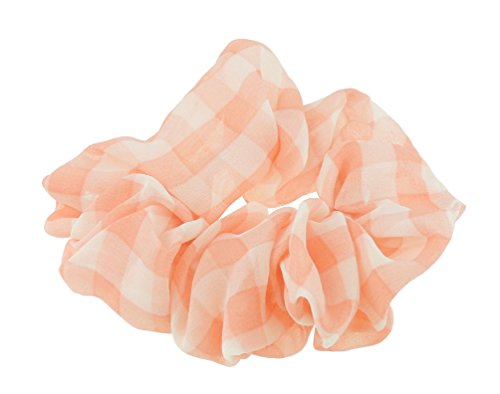 Damen Mädchen Gingham-Plaid Karomuster groß Haargummi Haar Elastic Krawatte (Plaid-karomuster)