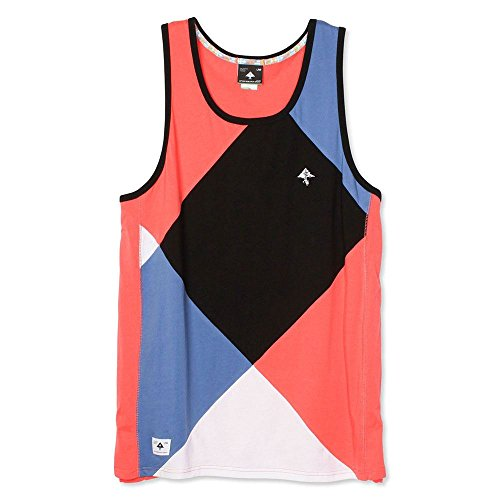 LRG Argyle Dimensions Tank Top Dark Salmon -