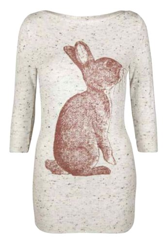 Fast femme fashion steckbrücke lèvres et lapins pression - Kaninchen Druck