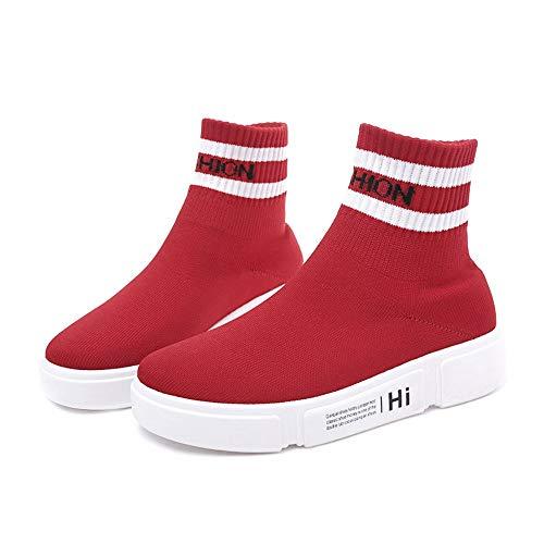 YAYADI Schuhe Hohe Knöchel Frauen Laufen Turnschuhe Athletische Socken Schuhe Frauen Outdoor Wanderschuhe,38 (Athletische Socken Damen Nike)