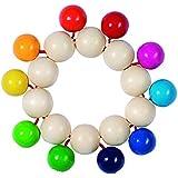 Heimess 735060 Wooden Touch Ring (Rainbow Beads)