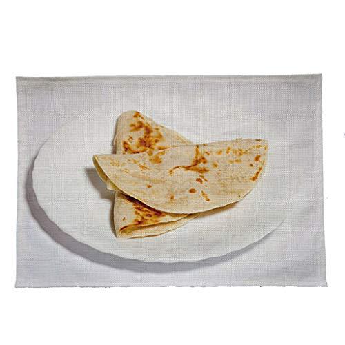 Y56(TM) Kreativer-Lustig Platzsets Mexikanischer Burrito TischsetZuhause Küchentisch RestaurantBar Tischset (Mehrfarbig) -