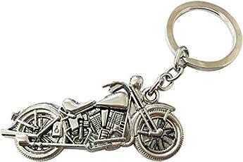 GCT Silver Royal Enfield Motorcycles Keyring & Keychain