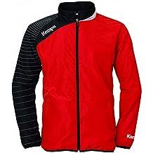 Kempa - Chaqueta Circle Hombre, tamaño L, color rojo/negro