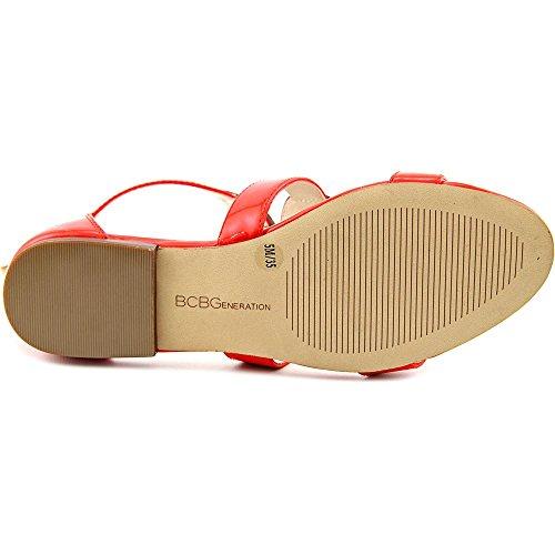 BCBGeneration Faroh Damen Lackleder Gladiator Sandale Candy Red