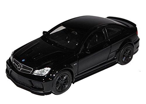 Preisvergleich Produktbild Mercedes-Benz C-Klasse C63 AMG Coupe C204 Schwarz 2011-2015 ca 1/43 1/36-1/46 Welly Modell Auto mit individiuellem Wunschkennzeichen