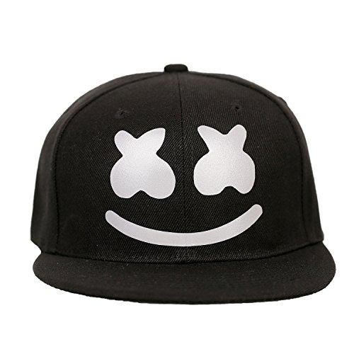 Hut DJ Hip-Hop Mütze Snapback Kappe Erwachsene & Jugendliche Reflektierende Neuheit Unisex Cosplay Party Prop Kostüm Merchandise Zubehör ()