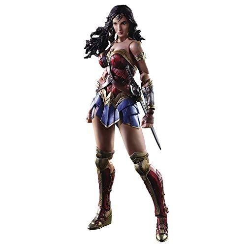 Siyushop Variante Play Arts Kai Wonder Woman Actionfigur - Magische Superwoman-Actionfigur - Ausgestattet mit Waffen und auswechselbaren Händen - Hohe 27CM (Waffen Woman Wonder)