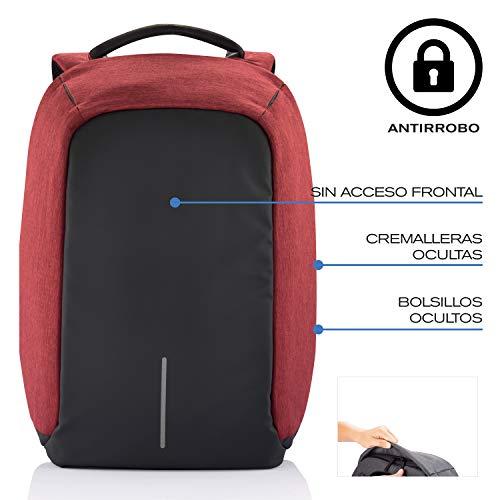 XD Design Bobby- Mochila antirrobo, Rojo