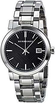 Burberry Women's BU9101 Large Check Stainless Steel Bracelet W