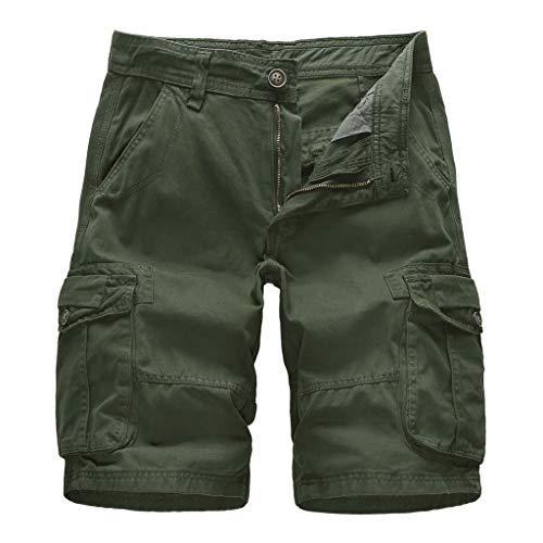 Poachers Men's Pants,Herren Sommer Im Freien LäSsig Lose Reine Farbe Baumwolle Overalls Strand Shorts Hosen Fox Poacher