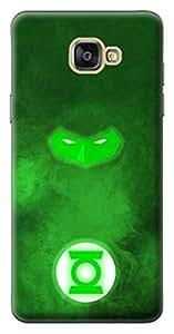 Mott2 Back Case for Samsung Galaxy A9 | Samsung Galaxy A9Back Cover | Samsung Galaxy A9 Back Case - Printed Designer Hard Plastic Case - Green Lantern theme