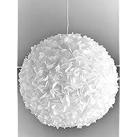 White Fluffy, weiße Lampe Leuchte Lampenschirm Pendelleuchte Pendellampe Hängeleuchte Hängelampe Papierleuchte Papierlampe Reispapierlampe Designerlampe Wohnzimmerlampe Schlafzimmerlampe Deckenlampe