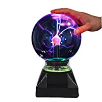 Enkman cam Plazma Ball küre flaş lamba parti büyülü elektrostatik yanıp sönen Kugel KUGEL (4,0inç)