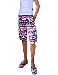 short de style bermuda aimerfeel hommes dans la conception aztèque, taille M / L 38-45cm multicolores.
