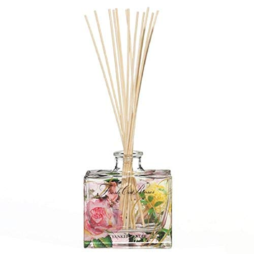 Yankee Candle Signature Reed Aroma Diffuser, Fresh Cut Roses, 88ml, hält bis zu 8 Wochen (Rosen-aroma)