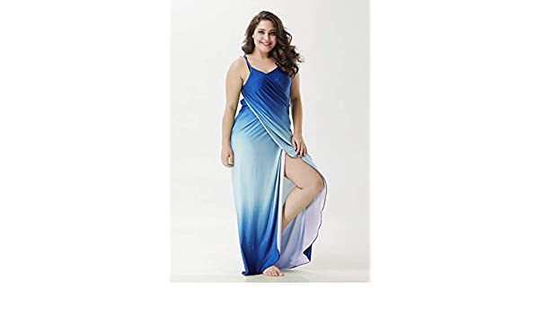 f101e474a24f3 HITSAN INCORPORATION IASKY Plus Size Cover Up Robe Plage Gradient Color  Beach Long Dress Pareos Women Tunic Sarong Bathing Suit Bikini Cover Up  Color D Size ...