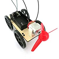 On Sale.Clearance/JYC Mini Wind Powered Toy DIY Car Kit Children Educational Gadget Hobby Funny