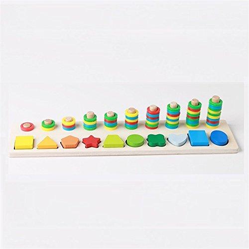Différents cadeaux à vos bébés Jouets éducatifs de conseil de forme de jeu de perle de jardin d'enfants (coloré)
