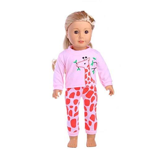 LILITRADE Puppe Pyjamas PJS Kleidung Schöne Puppen Kleidung für 18 Zoll American Girl Unsere Generation Reise Mädchen Puppe Kinder Geschenk (Generation-puppe, Reise-set Unsere)