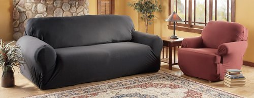 Stretch Jersey Slip Covers, BEIGE, SOFA by MADISON HOME (Sofa Slip Cover)