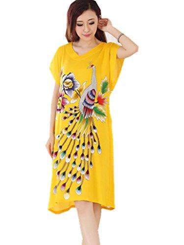 YICHUN -  Camicia da notte  - Donna Yellow