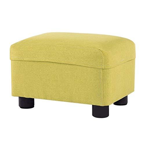 Hocker Aufbewahrungsschemel Sofa Hocker Home Aufbewahrungsbox Schuhbank Last Tragende Können Sitzen, Kann Gespeichert Werden, 37X27X20CM (Color : Green, Size : 37X27X20CM)