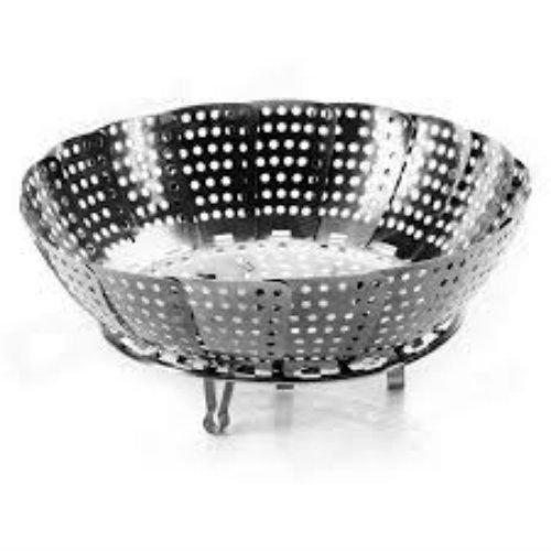 Decorcrafts Stainless Steel Steamer Fruits And Vegetable Basket | Multipurpose Basket
