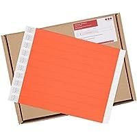 """Cintapunto® - 3/4"""" CintaBands® - Tyvek pulseras 1000 unidades 1,9 cm, Pulseras para eventos 1000 unidades, Pulseras de papel Tyvek 1000 unidades, Tyvek wristbands (Rojo Neón)"""