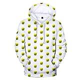 LOTOTLOMCA Maglione con Cappuccio Sandbox Gioco Abbigliamento per Bambini Adulto Maglione con Cappuccio Stampa Modello di Smiley 3D A Colori Adatto A Uomini E Donne,XL