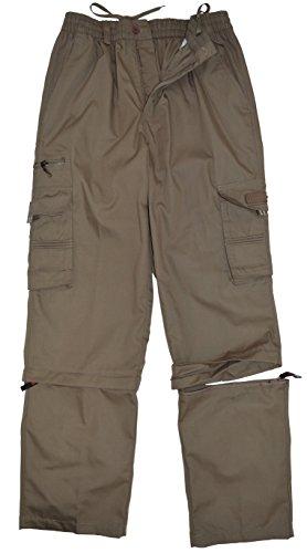 thb Richter Herren 3/4 Zip-Off Cargohose Freizeithose Trekkinghose Cargo Lange Hose Pants Arbeitshose Outdoor Men\'s (XL, Dunkelbeige)