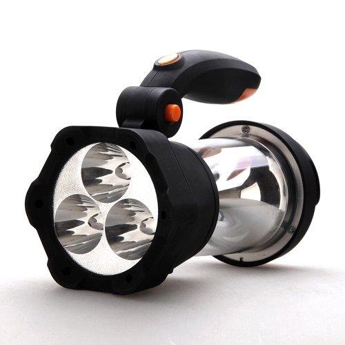 Preisvergleich Produktbild VonHaus 4 in1 Dynamo 3 LED-Strahler 10 LED Lampe Taschenlampe – Zelten / Camping / Notlicht