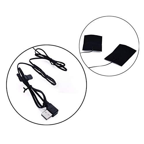 Elektrisch USB Kleider Heizung Pad 5V Einstellbar Temperatur Kleider Heizung Kohlenstoff Ballaststoff Erhitzt Tragbar Wasserdicht Faltbar Weste Jacken Kleider Heizung Wärmer Pad,2Pcs/SetNoswitch
